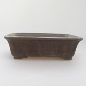 Ceramic bonsai bowl 17 x 14 x 5 cm, blue-brown color