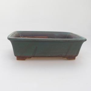 Ceramic bonsai bowl 17 x 14 x 5 cm, color green