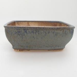 Ceramic bonsai bowl 15 x 12 x 5 cm, color blue