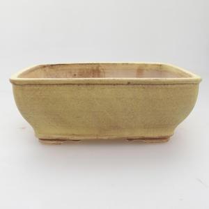 Ceramic bonsai bowl 15 x 12 x 5 cm, yellow color