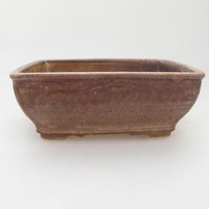 Ceramic bonsai bowl 15 x 12 x 5 cm, color beige-brown