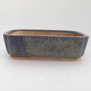 Ceramic bonsai bowl 17,5 x 14 x 5 cm, color blue