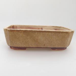Ceramic bonsai bowl 17,5 x 14 x 5 cm, color beige