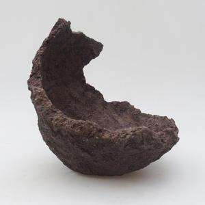 Ceramic Shell 14,5 x 15 x 17 cm, gray color