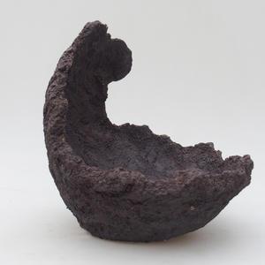 Ceramic Shell 15,5 x 15 x 18 cm, gray color