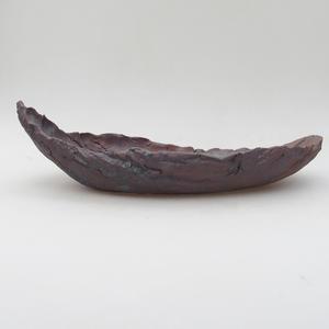 Ceramic Shell 28 x 14 x 8,5 cm, metal color
