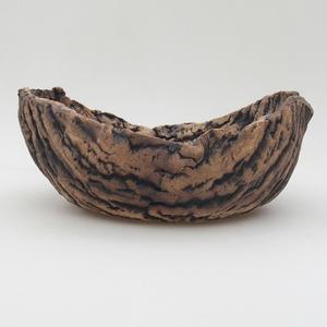 Ceramic Shell 20,5 x 15,5 x 8,5 cm, gray brown color