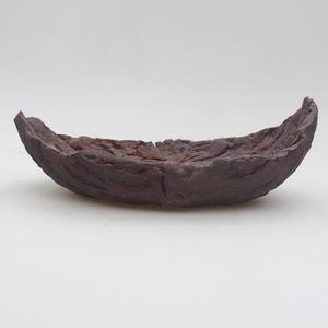 Ceramic Shell 19 x 11,5 x 7 cm, metal color