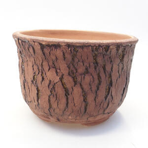 Keramická bonsai miska 14 x 14 x 10 cm, barva praskaná