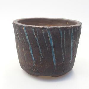 Keramická bonsai miska 9,5 x 9,5 x 7,5 cm, barva praskaná