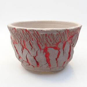 Keramická bonsai miska 15 x 15 x 9,5 cm, barva praskaná