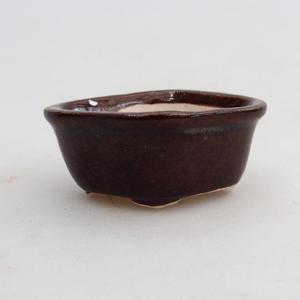 Mini bonsai bowl 5 x 4 x 2 cm, brown color