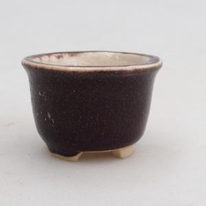 Mini bonsai bowl 4 x 4 x 3 cm, brown color