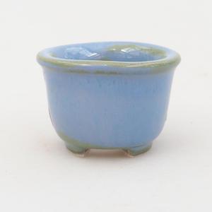 Mini bonsai bowl 4 x 4 x 2,5 cm, color blue