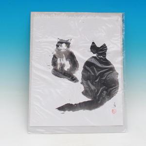Calligraphy - Cats gossip