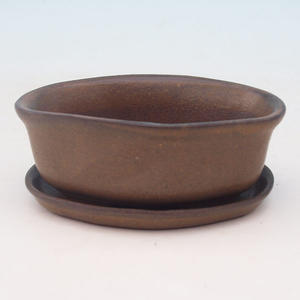 Bonsai bowl tray of water H05 +, brown