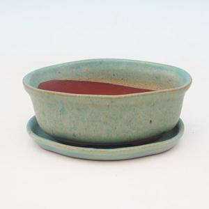 Bonsai bowl tray of water H05 +, green