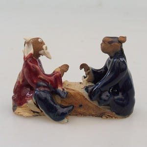 Ceramic figurine - pair of players