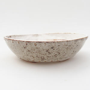 Ceramic bonsai bowl 18 x 18 x 5 cm, color white