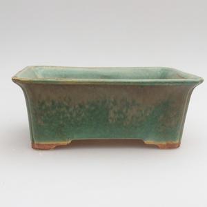 Ceramic bonsai bowl 18 x 14 x 7 cm, color green