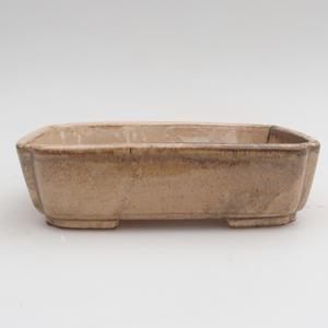 Ceramic bonsai bowl 15 x 12 x 4 cm, brown color