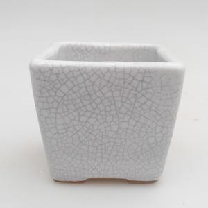 Ceramic bonsai bowl 7 x 7 x 6,5 cm, crayfish color
