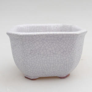 Ceramic bonsai bowl 9.5 x 9.5 x 6.5 cm, crayfish color