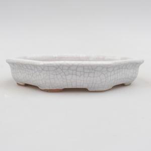 Ceramic bonsai bowl 11 x 11 x 2 cm, crayfish color