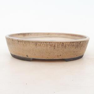 Bonsai miska 19 x 15 x 4,5 cm, barva hnědobéžová