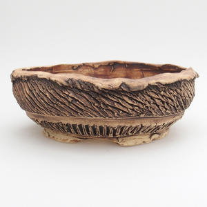 Ceramic bonsai bowl - fired in a gas oven 1240 ° C