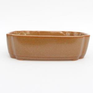 Ceramic bonsai bowl - 2nd quality 18 x 13 x 5 cm, gray-orange color