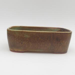 Ceramic bonsai bowl 23 x 18 x 5 cm, color green