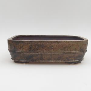 Ceramic bonsai bowl 23 x 19 x 7 cm, gray-blue color