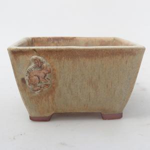 Ceramic bonsai bowl - Squirrel