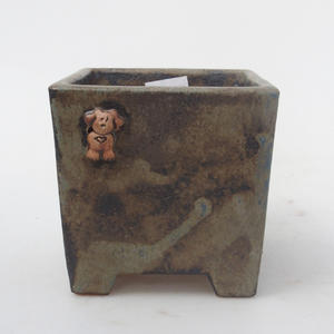 Ceramic bonsai bowl - Dog