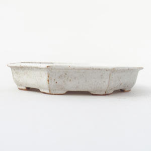 Ceramic bonsai bowl 11,5 x 11,5 x 2 cm, crayfish color