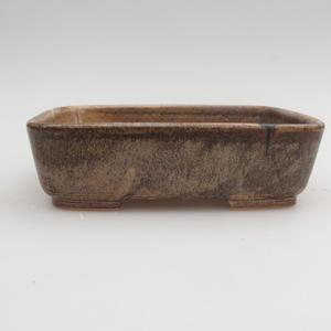 Ceramic bonsai bowl 15,5 x 12 x 4 cm, brown color