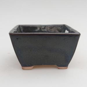 Ceramic bonsai bowl 9 x 9 x 5 cm, color blue