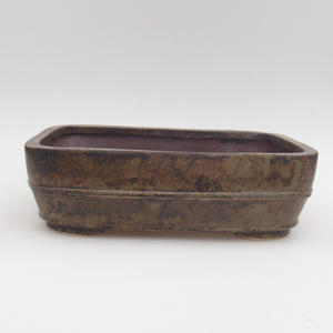 Ceramic bonsai bowl 24 x 18 x 7 cm, color gray