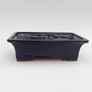 Ceramic bonsai bowl 21 x 15 x 6 cm, color blue