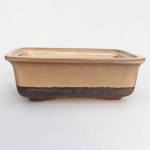 Ceramic bonsai bowl 17 x 12 x 6 cm, color brown