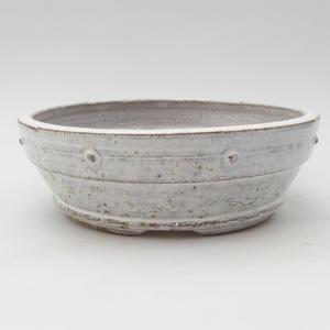 Ceramic bonsai bowl 17 x 17 x 5,5 cm, white color