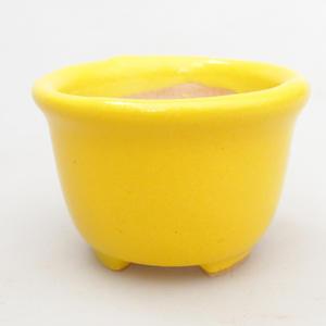 Mini bonsai bowl 4 x 4 x 3 cm, yellow color