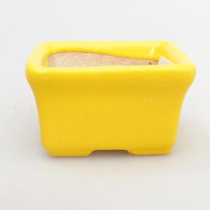 Mini bonsai bowl 4,5 x 3,5 x 2,5 cm, yellow color