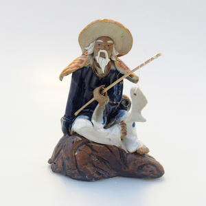Ceramic figurine - Fisherman