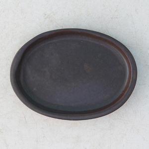 Bonsai water tray H 04 - 10 x 7,5 x 1 cm, brown - 10 x 7.5 x 1 cm