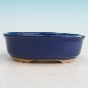 Ceramic bonsai bowl H 04 - 10 x 7,5 x 3,5 cm, brown - 10 x 7.5 x 3.5 cm
