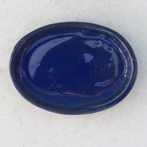 Bonsai water tray H 04 - 10 x 7,5 x 1 cm, black matt - 10 x 7.5 x 1 cm