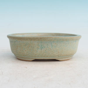 Bonsai ceramic bowl H 04, green