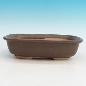 Bonsai ceramic bowl H 08, brown